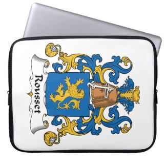 Escudo de la familia de Rousset Fundas Portátiles