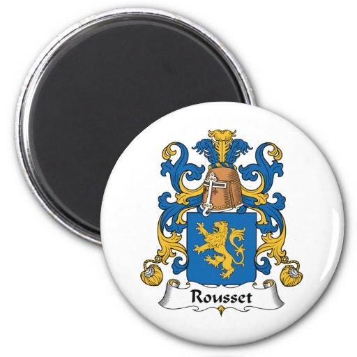 Escudo de la familia de Rousset Imán Redondo 5 Cm