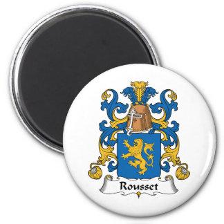 Escudo de la familia de Rousset Imanes De Nevera