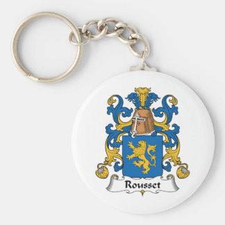 Escudo de la familia de Rousset Llavero Personalizado