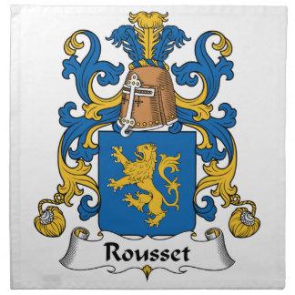 Escudo de la familia de Rousset Servilletas