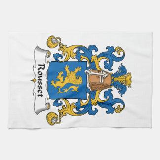 Escudo de la familia de Rousset Toallas
