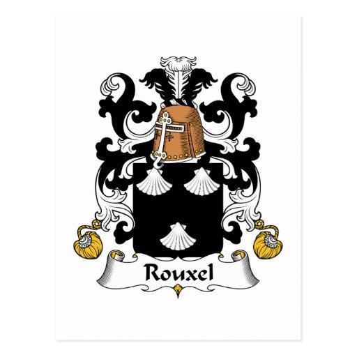 Escudo de la familia de Rouxel Postal