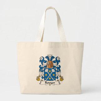 Escudo de la familia de Rouyer Bolsas De Mano