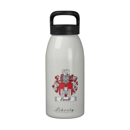 Escudo de la familia de Rovelli Botellas De Beber