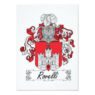"""Escudo de la familia de Rovelli Invitación 5"""" X 7"""""""