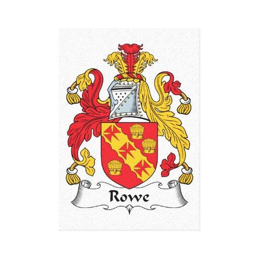 Escudo de la familia de Rowe Impresiones En Lona Estiradas