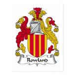 Escudo de la familia de Rowland Postal