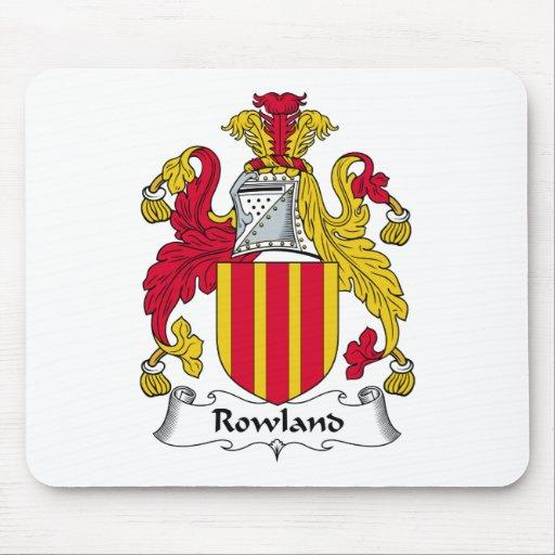 Escudo de la familia de Rowland Tapetes De Ratón