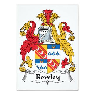 Escudo de la familia de Rowley Invitación 12,7 X 17,8 Cm