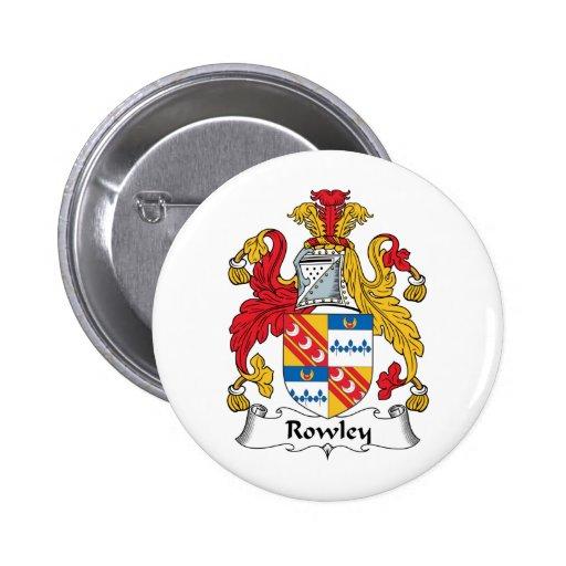 Escudo de la familia de Rowley Pin Redondo 5 Cm