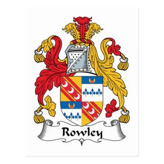 Escudo de la familia de Rowley Tarjetas Postales