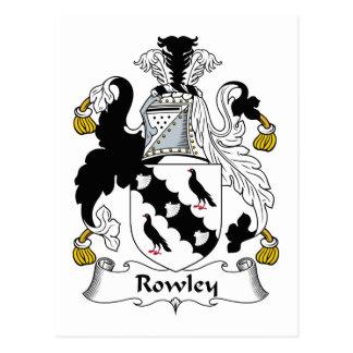 Escudo de la familia de Rowley Postales