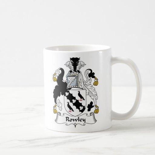 Escudo de la familia de Rowley Tazas De Café