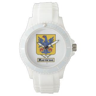 Escudo de la familia de Rowse Reloj De Mano
