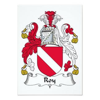 """Escudo de la familia de Roy Invitación 5"""" X 7"""""""