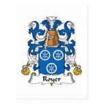 Escudo de la familia de Royer Tarjetas Postales
