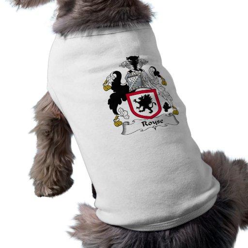 Escudo de la familia de Royse Camiseta De Perrito