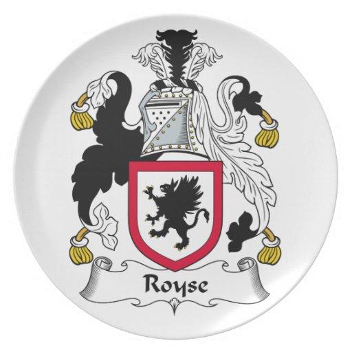 Escudo de la familia de Royse Plato