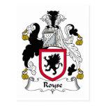 Escudo de la familia de Royse Postales