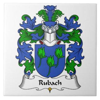Escudo de la familia de Rubach Azulejo Cuadrado Grande