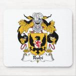 Escudo de la familia de Rubi Alfombrillas De Ratón