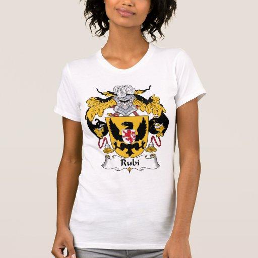 Escudo de la familia de Rubi Camisetas