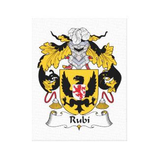 Escudo de la familia de Rubi Impresion De Lienzo