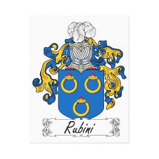 Escudo de la familia de Rubini Lienzo Envuelto Para Galerias