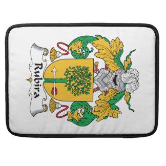 Escudo de la familia de Rubira Funda Para Macbooks