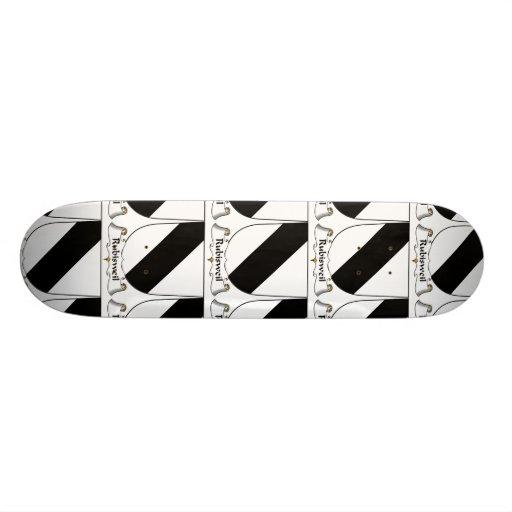 Escudo de la familia de Rubisweil Skate Board