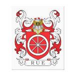 Escudo de la familia de ruda (francés) lienzo envuelto para galerías