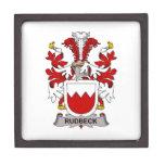 Escudo de la familia de Rudbeck Caja De Recuerdo De Calidad