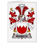Escudo de la familia de Rudbeck Felicitaciones