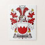Escudo de la familia de Rudbeck Rompecabezas Con Fotos