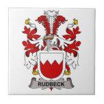 Escudo de la familia de Rudbeck Teja Cerámica