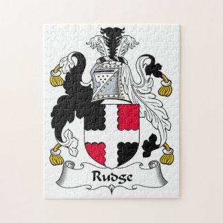 Escudo de la familia de Rudge Rompecabezas Con Fotos