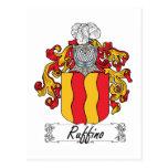 Escudo de la familia de Ruffino Postales