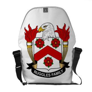 Escudo de la familia de Ruggles Bolsas Messenger