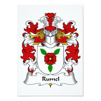 Escudo de la familia de Rumel Invitación 12,7 X 17,8 Cm