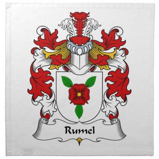 Escudo de la familia de Rumel Servilletas
