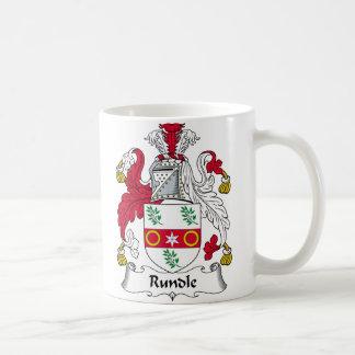 Escudo de la familia de Rundle Tazas