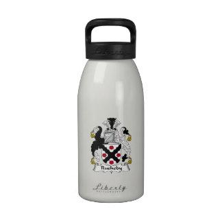 Escudo de la familia de Rusheby Botellas De Beber