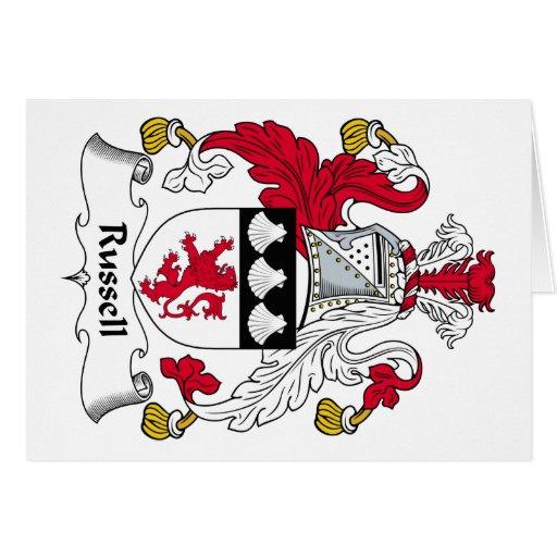 Escudo de la familia de Russel Tarjeta De Felicitación