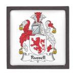 Escudo de la familia de Russell Cajas De Joyas De Calidad
