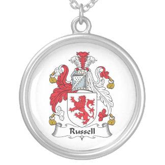 Escudo de la familia de Russell Pendiente Personalizado