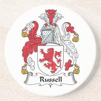 Escudo de la familia de Russell Posavasos Cerveza