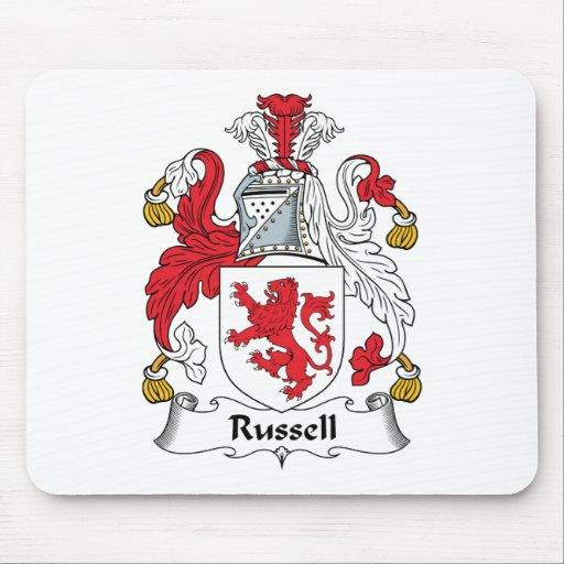 Escudo de la familia de Russell Tapetes De Raton