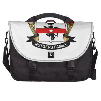 Escudo de la familia de Rutgers Bolsas Para Portátil
