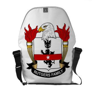 Escudo de la familia de Rutgers Bolsa De Mensajeria